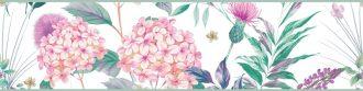 Cenefa decorativa floral |Flor grande pétalos rosas-Floral