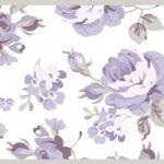 Cenefa decorativa floral |Flores pequeñas borde gris