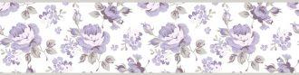 Cenefa decorativa floral |Flores pequeñas borde gris-Floral