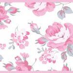 Cenefa decorativa floral |Flores pequeñas borde rosa