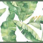 Cenefa decorativa floral |Hojas borde verde