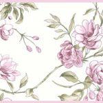 Cenefa decorativa floral |Ramas borde rosa
