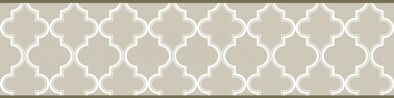 Cenefa decorativa geométrica  Mosaico verde-Geométrico