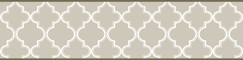 Cenefa decorativa geométrica |Mosaico verde-Geométrico