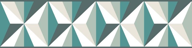Cenefa decorativa geométrica |Prisma verde-Geométrico