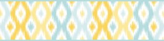 Cenefa decorativa geométrica |Rombos azul y amarillo-Geométrico