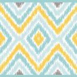Cenefa decorativa geométrica |Rombos azul y oro