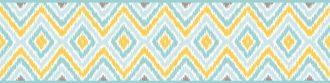 Cenefa decorativa geométrica |Rombos azul y oro-Geométrico