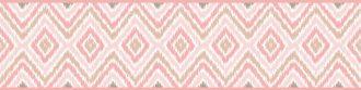 Cenefa decorativa geométrica |Rombos rosa y marrón-Geométrico