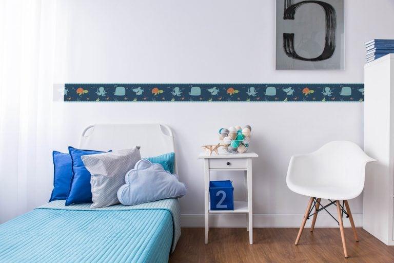 Cenefa decorativa infantil |Marino fondo oscuro-Infantil