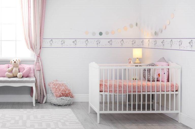 Cenefa decorativa infantil |Niña fondo gris-Infantil