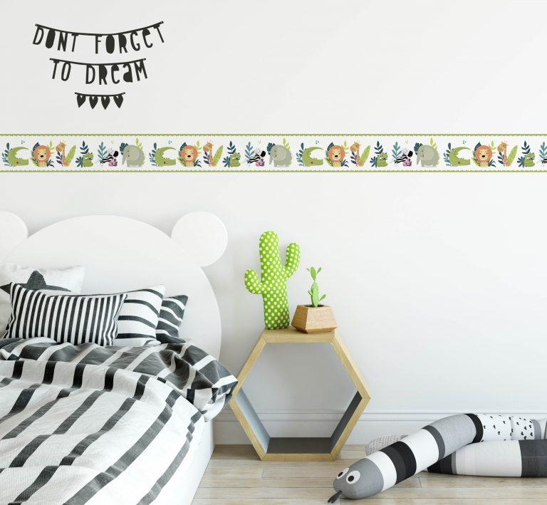 Cenefa decorativa infantil |Selva fondo claro-Infantil