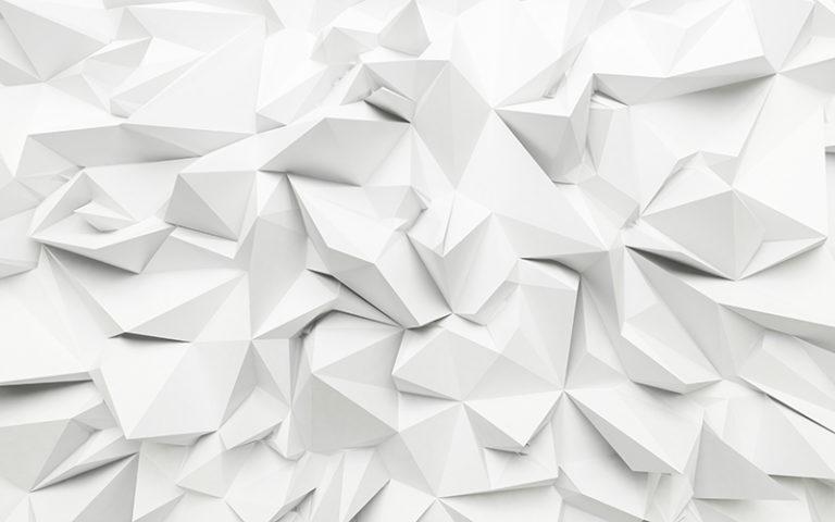 Fotomural Premium Geometría Blanca-Premium
