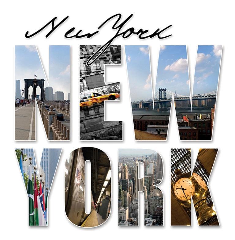 Fotomural Premium Letras New York-Premium