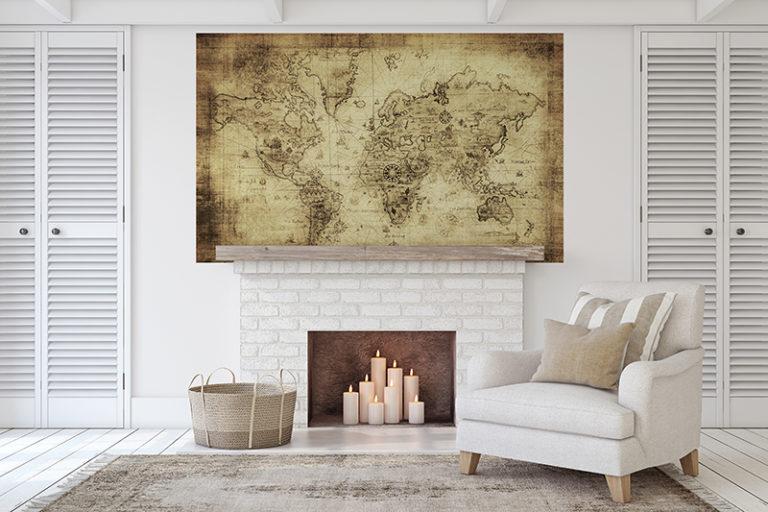 Fotomural Premium Mapa Antigüo-Premium