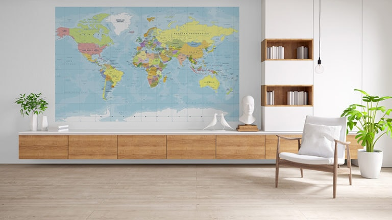 Fotomural Premium Mapa Color-Premium