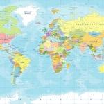 Fotomural Premium Mapa Color