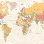 Fotomural Premium Mapa