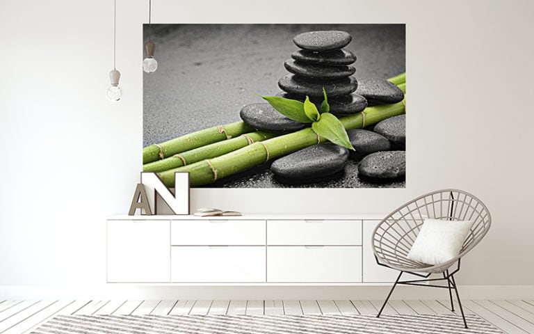 Fotomural Premium Piedras y Bambú-Premium