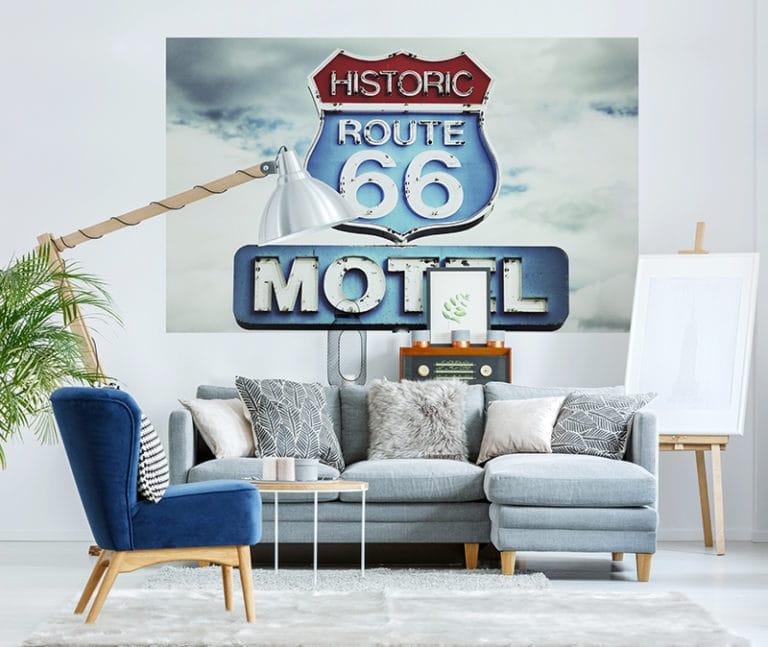 Fotomural Premium Señal Route 66-Premium