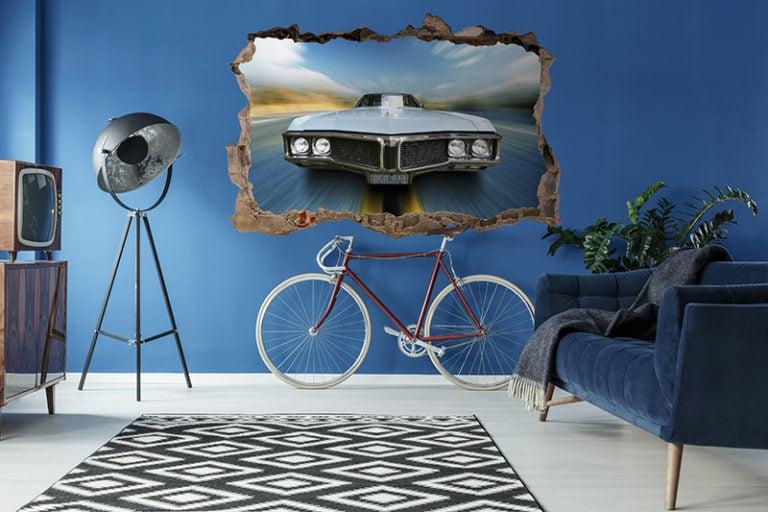 Ambadecor | Vinilos | Fotomurales | Vinilo 3D coche-Vinilo monomérico autoadhesivo