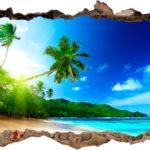 Vinilo 3D Playa