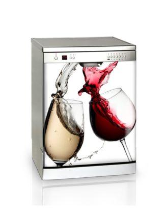 Ambadecor | Vinilos | Fotomurales | Vinilo Lavavajillas Copas de vino-Vinilo monomérico adhesivo