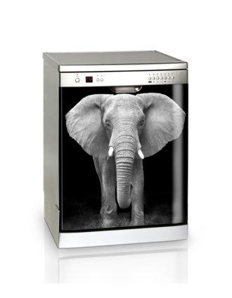 Ambadecor | Vinilos | Fotomurales | Vinilo Lavavajillas Elefante-Vinilo monomérico adhesivo