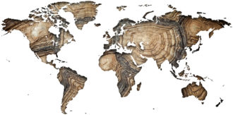 Ambadecor | Vinilos | Fotomurales | Vinilo Mapa del Mundo en Madera-Vinilo monomérico