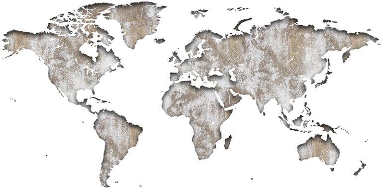 Ambadecor | Vinilos | Fotomurales | Vinilo Mapa del Mundo en Madera Rasgada-Vinilo monomérico