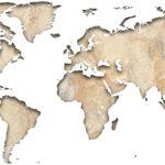 Vinilo Mapa del Mundo en Piedra
