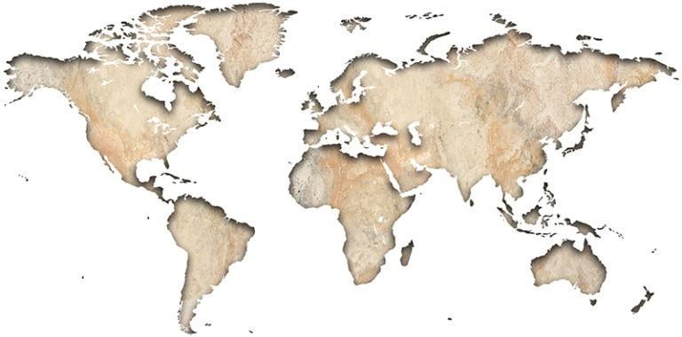 Ambadecor | Vinilos | Fotomurales | Vinilo Mapa del Mundo en Piedra-Vinilo monomérico
