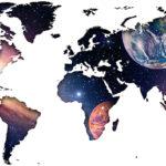 Vinilo Mapa del Mundo en Universo