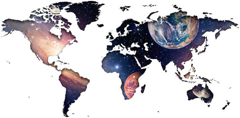Ambadecor | Vinilos | Fotomurales | Vinilo Mapa del Mundo en Universo-Vinilo monomérico