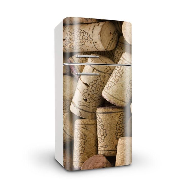 Ambadecor | Vinilos | Fotomurales | Vinilo para Frigorífico Corchos-Vinilo monomérico autoadhesivo