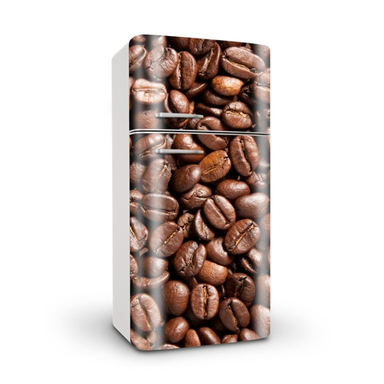 Ambadecor | Vinilos | Fotomurales | Vinilo para Frigorífico Granos de Café-Vinilo monomérico autoadhesivo