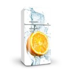 Vinilo para Frigorífico media Naranja
