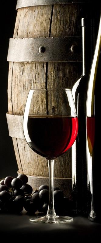 Ambadecor | Vinilos | Fotomurales | Vinilo para Puertas Copa de vino-Vinilo monomérico autoadhesivo