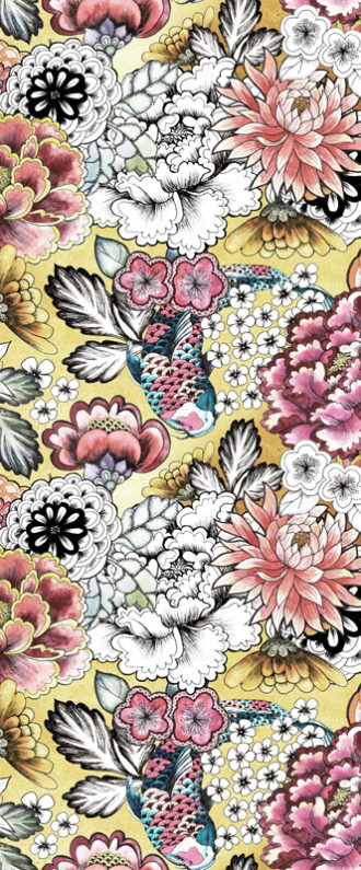 Vinilo para Puertas Dibujo de Flores-Vinilo monomérico autoadhesivo