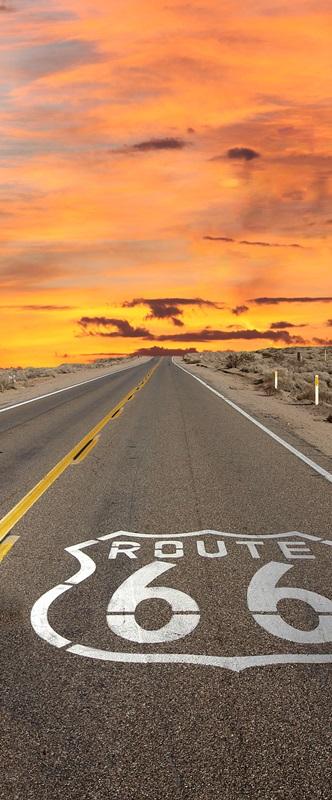 Ambadecor | Vinilos | Fotomurales | Vinilo para Puertas Route 66-Vinilo monomérico autoadhesivo