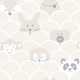 Papel Infantil con dibujos de animales en amarillo-10