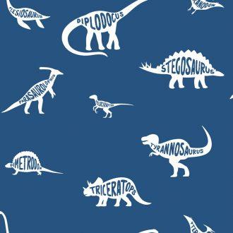 Papel Infantil con dinosaurios y fondo azul-10