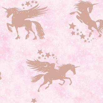 Papel Infantil con unicornios rosas-10