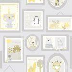 Papel Infantil fondo de marcos en gris