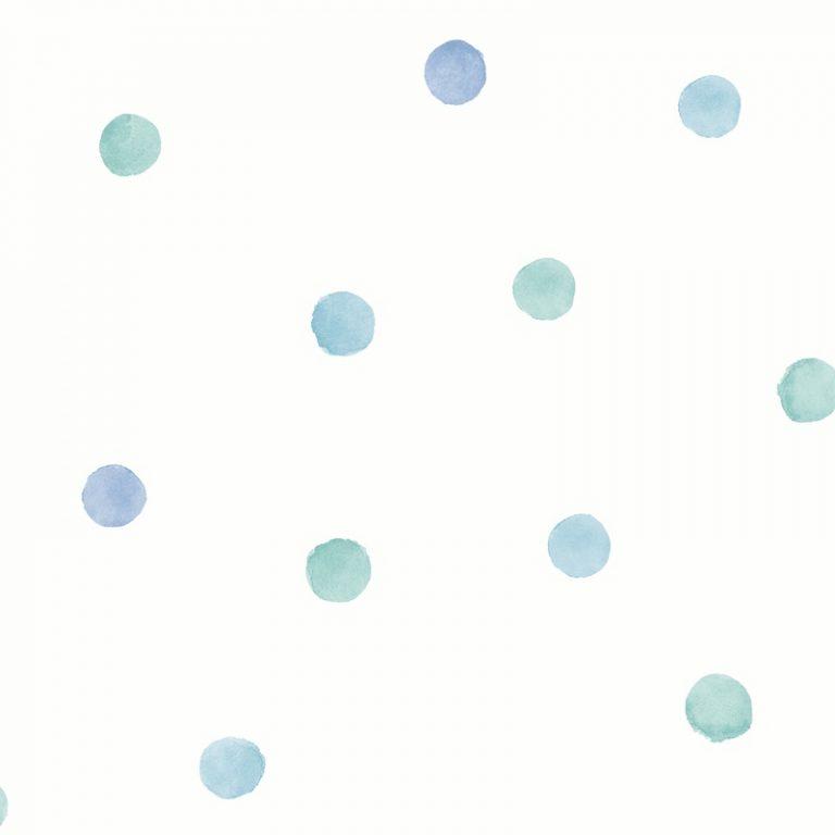 Papel Infantil puntos azules y verdes-10