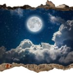 Vinilo 3D Noche y luna