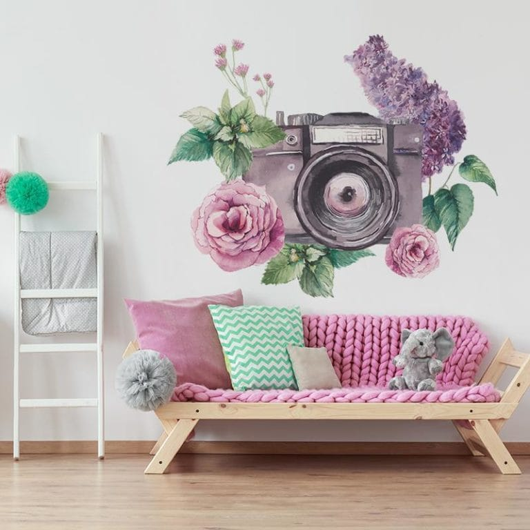 Ambadecor | Vinilos | Fotomurales | Vinilo Floral 1-Vinilo monomérico autoadhesivo