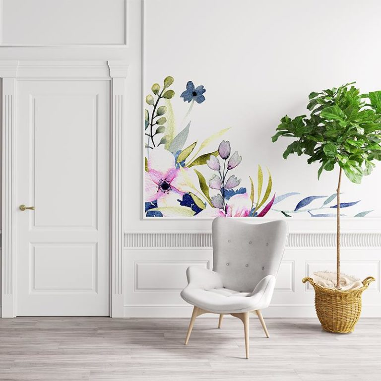 Ambadecor | Vinilos | Fotomurales | Vinilo Floral 15-Vinilo monomérico autoadhesivo