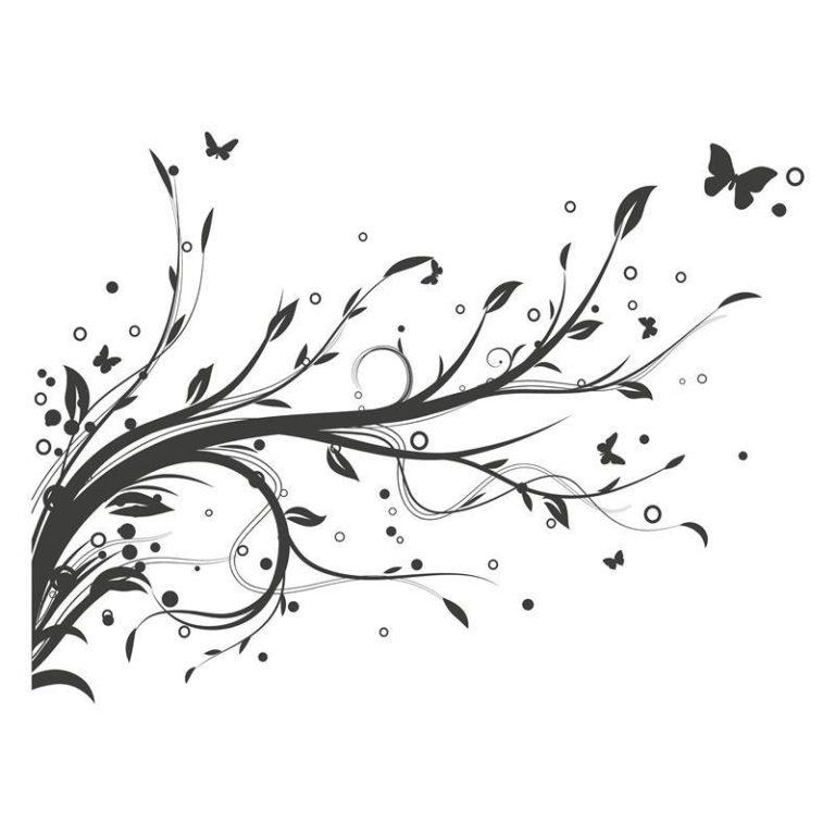 Ambadecor | Vinilos | Fotomurales | Vinilo floral Modelo 12-Vinilo monomérico autoadhesivo