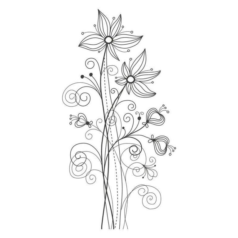 Ambadecor | Vinilos | Fotomurales | Vinilo floral Modelo 15-Vinilo monomérico autoadhesivo